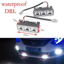 2PCS Impermeable Coche DRL 6LED Luz Diurna Conducción Antiniebla Super Blanco