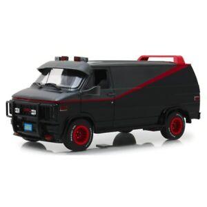 GMC Van A Team 1983 Black 1/18 - 13521 GREENLIGHT