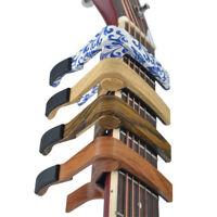 Wooden Finish Zinc Alloy Capo Clamp For Acoustic Electric Guitar Ukulele