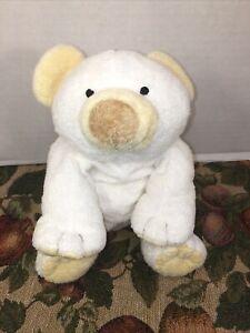 "VGUC-9"" 2002 Ty Pluffies Bear Plush Cloud White & Yellow Machine Washable"