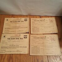 1943 US Military - 4 Books - WWII War Ration Books No. 3 & No. 4 with Stamps
