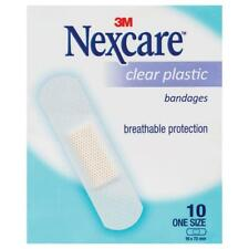 Nexcare Clear Plastic Strips Sachet 10 Pack Single Breathable Protection