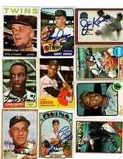 Autographed Twins 1961 1962 1963 1964 1965 1966 1967 1968 1969 1970 1971 2000 ++