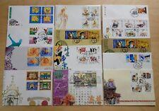 Macau 1998 Complete Set of Stamps on 13 FDC 澳门一九九八年发行全套邮票首日封共13个
