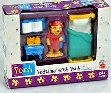 Mattel Winnie Pooh Set BEDTIME WITH POOH Collectible Figure Set #66753 24+ Mos.