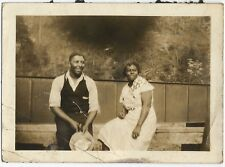 Antique African American Attractive Couple Old Photo Black Americana