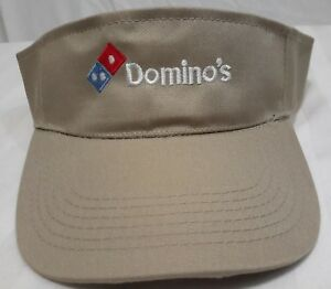 Domino's Pizza Restaurant Employee Uniform Sun Visor Cap Hat Adjustable