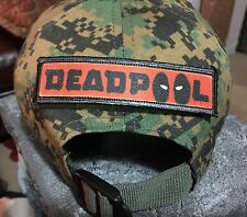 """1x4"""" Deadpool Morale Patch Tactical Military Army USA Hook Flag Marvel"""