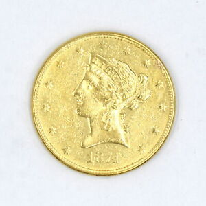 1874 $10 LIBERTY HEAD GOLD EAGLE VF-XF DETAILS 90% GOLD US COLLECTIBLE COIN