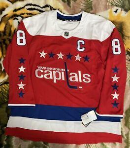 Authentic NHL Washington Capitals Alex Ovechkin #8 Adidas Jersey DU0523 SIZE 60