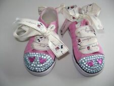 USED Girl's size 6 bespoke Lee Cooper Mickey Mouse Canvas Shoes