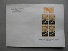 GABON, large cover FDC 1968, S/S Konrad Adenauer