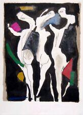 Three Graces Lithograph Marino Marini Art Print 12x9