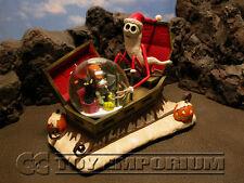 Disney's Nightmare Before Christmas RETIRED Santa Jack & Sleigh Large Snowglobe
