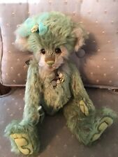 "Charlie Bear SHAMROCK 2019 Isabelle Mohair Collection 11"" FREE US SHIP"