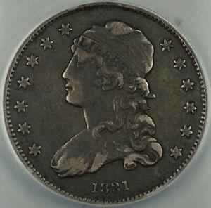 1831 B-3 Capped Bust Silver Quarter 25c, ANACS VF-30