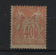 "FRANCE STAMP TIMBRE N° 94 "" SAGE 40c  ROUGE-ORANGE 1881 "" NEUF xx TTB  R747"