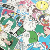 50 Pcs Middle Finger Ripndip Cat Skateboard Sticker Graffiti Notebook Car Decal