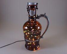 Flaschen Lampe Ratskeller Pils Krug rustikal Tischlampe mit 120 LED´s ww+MC