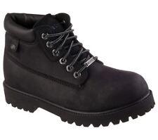 SKECHERS Men's Waterproof Nubuck Verdict Ankle Boots in Black