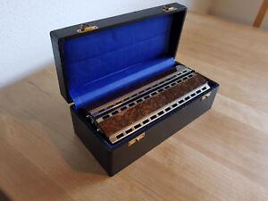 M. Hohner Harmonika 265 Double Bass, Chromatica, antikes Modell