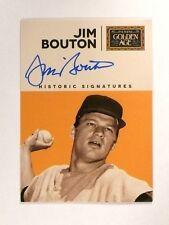 2014 Panini Golden Age Jim Bouton Historic Signatures Autograph Auto *45742
