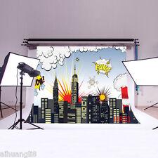 5X3FT Superhero Vinyl Photography Backdrop Background Studio Prop HR01