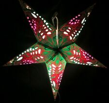 24' Green Flower Paper Star Hanging Lantern Lamp (Light Cord Is Included) # 2