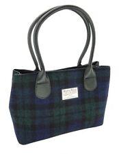 Ladies Authentic Harris Tweed Classic Handbag Black Watch Tartan LB1003 COL 60