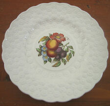 Copeland Spode Luncheon Plate Ring 9¼ Fruit Bouquet Embossed Daisies England #7