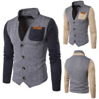 Men's Slim Fit Stylish Formal Casual Button Suit Blazers Coat Jacket Outwear
