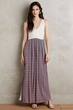 NWT $148 Anthropologie Elysian Maxi Dress LARGE Neutral Motif By Maeve