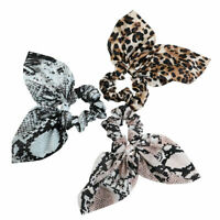 1Pc Women's Elastic Scrunchies Hair Bands Bow Ponytail Holder Hair Tie Rope Ring