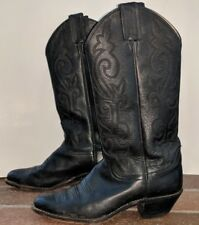Justin Women's L4911 Cowboy Boots Size 6 B Black Leather Western London Calf