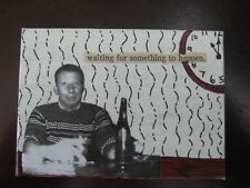 """ACEO-""""WAITING"""" Original/Signed Mixed Media/Contemporary Art/Prose People"""