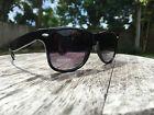 New Retro Shiny Black Classic Sunglasses Dark Shades Vintage 80's Sunglasses