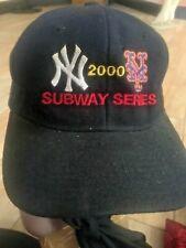 Vintage NY Yankees Mets Historic 2000 Subway Series  Baseball Cap Vintage Hat