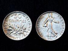 50 Centimes 1919 Semeuse. Argent. SPL/ FDC