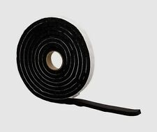 """New! 43155 M-D WEATHERSTRIPPING TAPE Black Rubber Self Adhesive 1/4"""" x 1"""" x 10'"""
