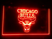 "Chicago Bulls 12"" x 8"" Led Neon Sign mancave beer bar pub"