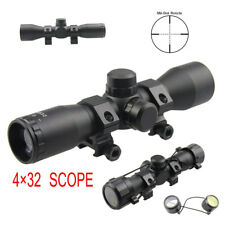Tactical 4X32 Compact .223 .308 Rifle Scope /w Rings Mil-Dot Reticle for Aiming