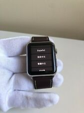 Apple Watch Series 1 Stainless Steel 42mm Barenia Hermes Strap! Charger