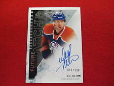 20013 14 SP Authentic Will Acton future watch rookie autograph card  Oilers