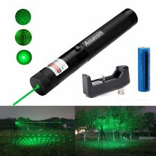 10Mile Burning Powerful 2in1 Green Laser Pointer Pen 5mw 532nm+Battery+Charger