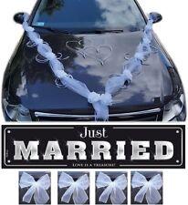 Brautauto Dekoration Autoschmuck Hochzeitsauto Autogirlande Rosen 10 tlg. - weiß