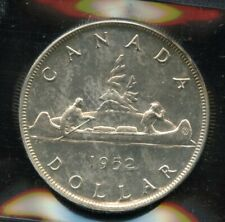 1952 Canada Silver Dollar No Water Lines NWL - ICCS MS-62