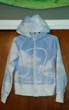 Rare LULULEMON Remix Hoodie Jacket Women's Size small ish Blue Sky Clouds Cute