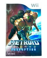 Notice du jeu Metroid Prime 3 Corruption PAL FR Nintendo Wii