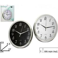 Orologio Da Parete Ovale Quarzo Muro ArtHome 33x27cm dfh