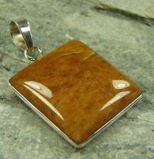 Semi-Precious Cherry Quartz 925 Sterling Silver Pendant - 609c